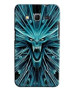 Omnam Devil Printed Designer Back Cover Case For Samsung Galaxy Core Prime