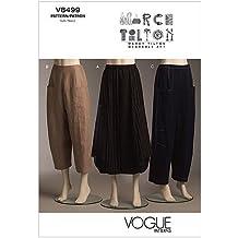 Vogue Patterns V8499 - Patrones de costura para faldas y pantalones de mujer (talla AA