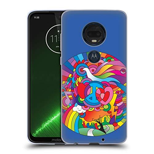 Head Case Designs Offizielle Howie Green Friedens, Liebe Und Musik Kreis Soft Gel Hülle für Motorola Moto G7 Plus
