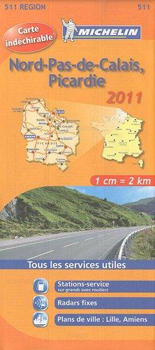 NORD PAS DE CALAIS , PICARDIE 17511 CARTE MICHELIN KAART 2011 (KAARTEN/CARTES MICHELIN)
