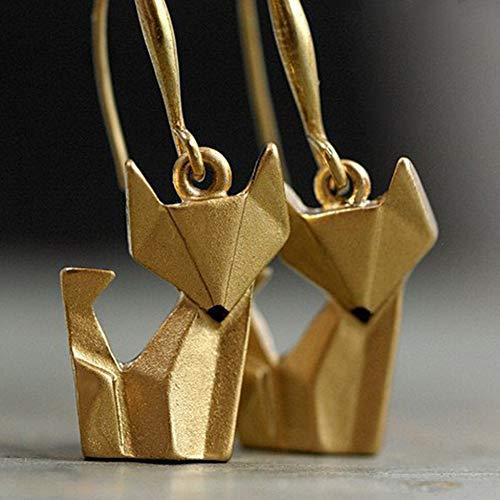 Ohrringe für Damen, modisch, einfache Frauen, Fuchs-Anhänger, Haken, Ohrringe, Party-Schmuck, Geschenk-Dekoration (Herren-diamant-cluster-ohrringe)