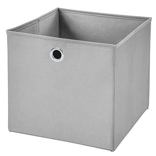 1 Stück Faltbox Hellgrau 28 x 28 x 28 cm Aufbewahrungsbox faltbar