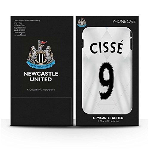 Officiel Newcastle United FC Coque / Clipser Brillant Etui pour Apple iPhone 7 / Dummett Design / NUFC Maillot Extérieur 15/16 Collection Cissé