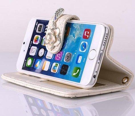 E-Max 4 en 1 Wallet Flip Case Cover Housse Portefeuille Etui Pour Coque Apple iPhone 6 Plus 5.5 Inch , Stylus et Film protecteur inclus, Brun (E03) C07