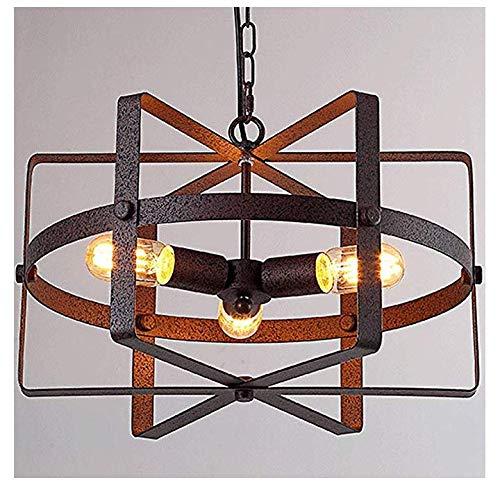 Pendelleuchte Form Metall Reel Kronleuchter Industrie Vintage Cage 3-Licht Hängelampe Deckenleuchte-Bronze
