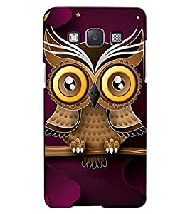 Citydreamz Owl\Cartoon Hard Polycarbonate Designer Back Case Cover For Samsung Galaxy E5