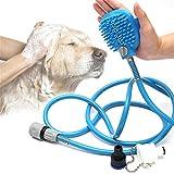 Zsypet Hund Dusche Sprayer Kit mit Massagegriff - Haustier Bad Werkzeug Reinigungsbürste Waschmaschine Hunde Haarentferner Pflege - Einschließlich Wasserhahn Adapter