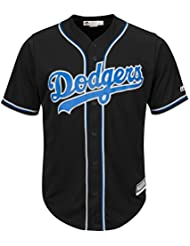 Majestic Los Angeles Dodgers Cool Base MLB Jersey Alternate Noir