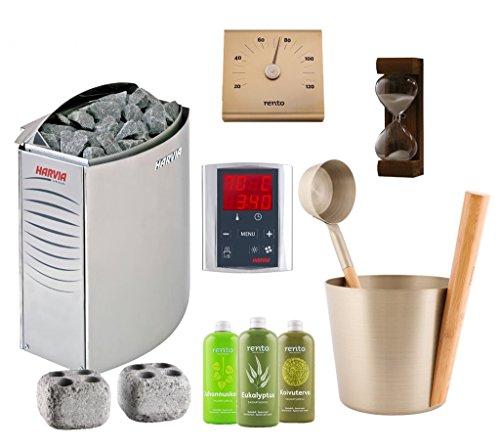 sauna-poele-electrique-harvia-vega-kit-bc90e-unite-de-commande-harvia-griffin-cg170-rento-seau-louch