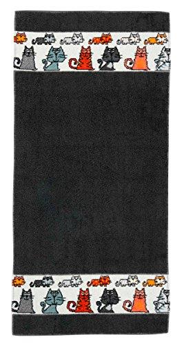 Feiler mietze00010515 Handtuch Mieze Größe 50 x 100 cm, Schiefer