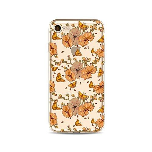 Schutzhülle iPhone 66S Bezug étui-case transparent Liquid Crystal TPU Silikon klar, Schutz Ultra Slim Premium, Schutzhülle Prime für Iphone 66s-le Schmetterling 7