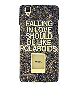 HiFi Designer Phone Back Case Cover Oppo F1 :: A35 ( Quotes on Instant )