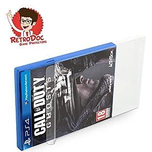 1 Stück Klarsichtschutzhülle für Playstation 4 – PS4 Box Protector – Box – Originalverpackung – Passgenau – PS3 – Blu Ray Steelbook – Glasklar – Protector – Box – Klarsicht – Schuber