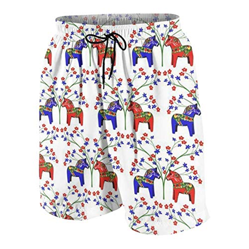 Pillow Socks Floral Swedish Dala Horses Boys Beach Shorts Quick Dry Beach Swim Trunks Kids Swimsuit Beach Shorts,Boys' Assist Basketball Shorts S Glory Boys Jeans