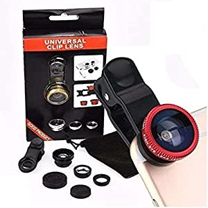 Kanish Sales Universal 3 in 1 Cell Phone Camera Lens Kit (Multicolour)
