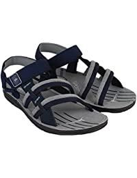 World Wear Footwear Men's Grey & Blue EVA Sandals & Floaters