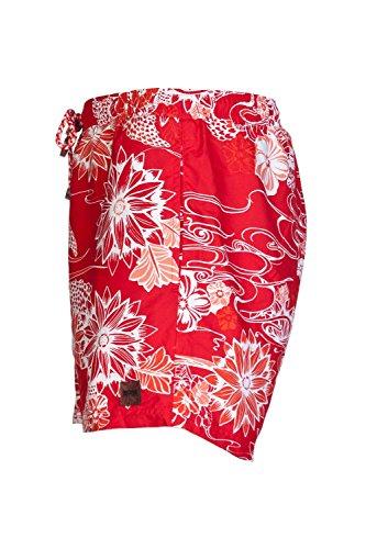 Hugo Boss Herren Blume Gedruckt Badehose Piranah 50260996 Rot