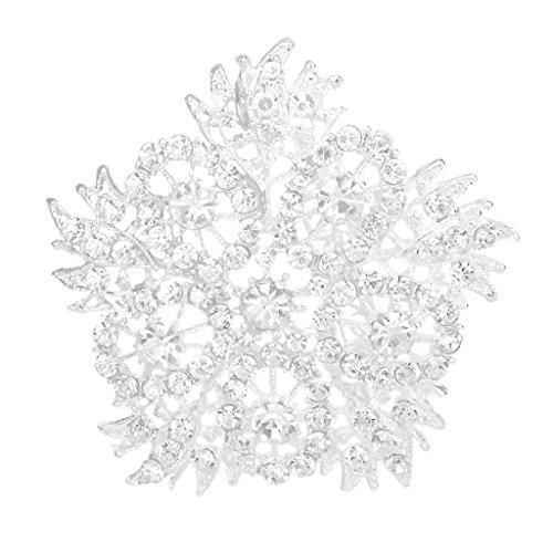 Rhinestone Di Cristallo Scintillante Sposa Bouquet Di Nozze Pin Spilla Stella - Spilla Stella Pin