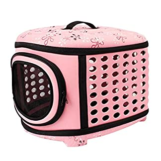 Boodtag Pet Carrier Travel Bag for Small Dogs and Cats Hard Cover Collapsable Portable Foldable Airline Approved 51HY iRjDIL