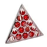 Best KURT ADLER Christmas Trees - Kurt Adler 1.57-Inch Red/White Decorated Glass Ball Ornament Review