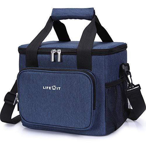 Lifewit 15l borsa termica manutenzione di freddo e caldo per uomo/donna/bambino porta pranzo cibo alimentazione lunch box per campeggio lavoro scuola
