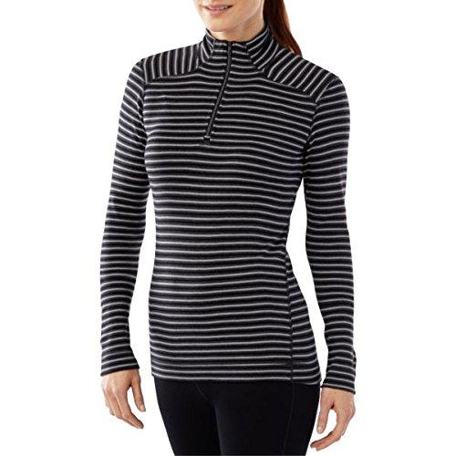 Smartwool NTS Mid 250 Pattern Sous-vêtement thermique zippée Femme Capri Charcoal Heather/black