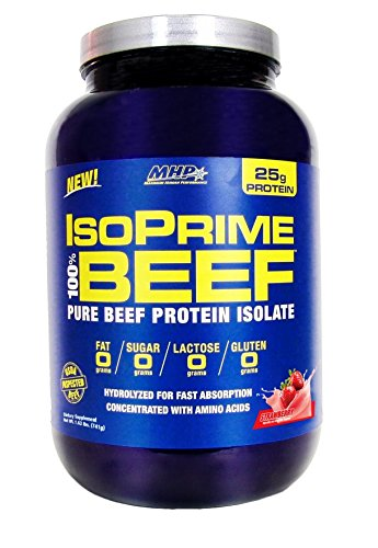 MHP 907 g Strawberry Iso Prime Beef Protein Isolate Powder Test
