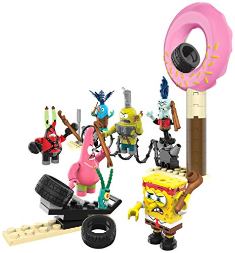 Image of Mega Bloks Toy - SpongeBob Square Pants Playset Post Apocalypse 7 Figure Pack