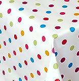 Wachstuch Dottie Bunt Kleine Punkte Eckig 120x220 cm · Länge wählbar· abwaschbare Tischdecke