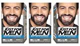 Just For Men - M55 -  Pflege Brush In Color Gel für Bart, Schnurrbart, Natur Schwarz,  3er Pack