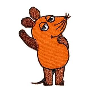 alles-meine.de GmbH die Sendung mit der Maus 6,2 cm * 9,2 cm Bügelbild Aufnäher Applikation Mäuse orange Tier Tiere