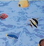 gekkofix Fensterfolie Fische 45 x 200 cm Buntglas Glasdekorfolie Selbstklebend, Sichtschutz