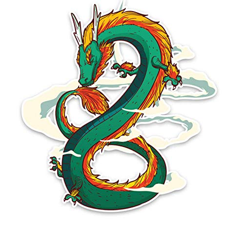 Sticker De Carro Pegatinas Pared Decorativas Personalidad Dios Chino Animal Dragon Pvc Etiqueta Engomada Del Coche De Alta Calidad 14.5Cmx15.5Cm