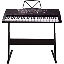 Mylek MY61KB 61 Keys Electronic Digital Electric Piano Interactive Musical Teaching Music Keyboard with Stand