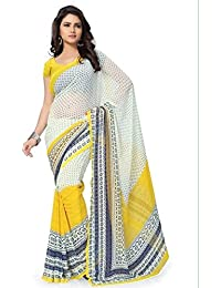 Macube Women's Latest Multi Color Designer Georgette Sarees New Collection 2017 Today Low Price Saree With Blouse...