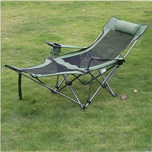 Outdoor-Freizeit gepolsterte Klapp Camping Stuhl, Lordosenstütze Leichte tragbare Deluxe gepolsterte Übergröße mit hohem Rücken atmungsaktiv, unterstützt bis zu 120 kg-4 (Tragbare Stuhl Unterstützt Den Rücken)