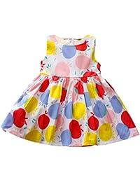 Vestido de niña sin mangas Círculo colorido Impreso Outwear