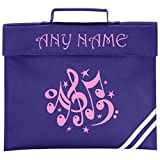 Personalised Music School Book Bag - *Choice of Colours* by Mayzie Designs (Purple)