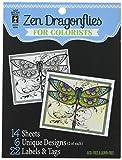 Hot Off The Press - Libro para Colorear, 12,7cm x 15,2cm, libélulas Zen