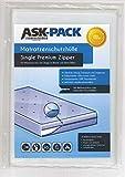 ASK Pack Premium Matratzenschutzhülle Single für 90cm - 100cm breite/bis 30cm hohe / 200cm Lange Matratze - mit REIßVERSCHLUSS - EXTRA stark 100µ