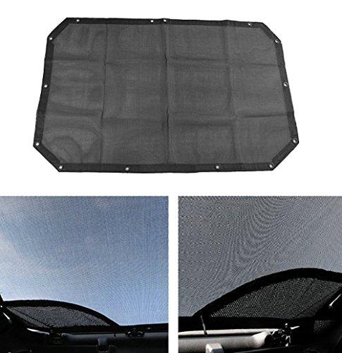 Anzene Sonne Schatten schwarz Farbe Abdeckung oben vorne Passagiere Passform für SUV JK Sahara Sport Rubicon X & Unlimited 2007–2016