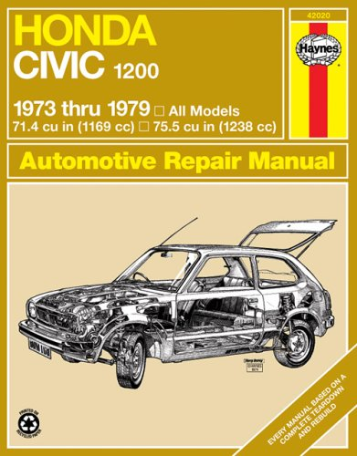 Haynes Honda Civic 1200, 1300 Manual No. 160: 1973-1979 (Service & repair manuals)