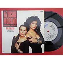 "Moreno, Azucar Breathless 7"" Epic 652 8857 EX/EX 1988 picture sleeve"