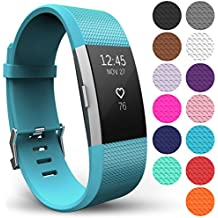 Yousave Accessories FitBit Charge 2 Strap Band, Replacement Silicone Sport Wristband for the FitBit Charge 2 - Available in 13 Colours