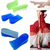 YUTIRITI Unisex Silicon Gel Height Increase Insoles Foot Care Shoe Insert Pads