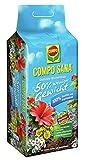 COMPO SANA Qualitäts-Blumenerde mit 12 Wochen Dünger für alle Zimmer-, Balkon- und Gartenpflanzen, 50% weniger Gewicht, Kultursubstrat, 60 Liter, Braun