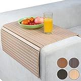 Jago Sofatablett Knietablett Sesseltablett Minitisch Armlehne aus Bambus Schutz vor Flecken, mit Farb- und Größenwahl