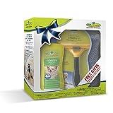Geschenkeset bestehend aus 1 Stck.Furminator Hund L kurzhaar /1 Stck. Waterless Spray / 1 Stck. Handtuch