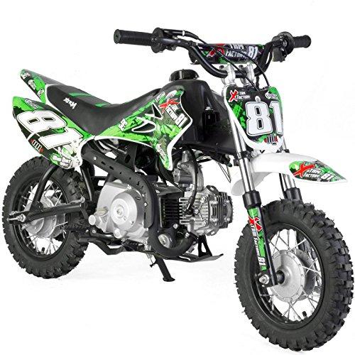 Dirt Bike niño 90cc 4T recinto Auto-Verde, Sin montaje, se envía en caja
