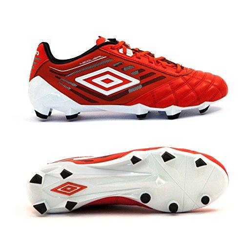 Umbro Medusæ Pro Hg, Scarpe da Calcio Uomo Rosso (Eeb-Grenadine/White/Black)